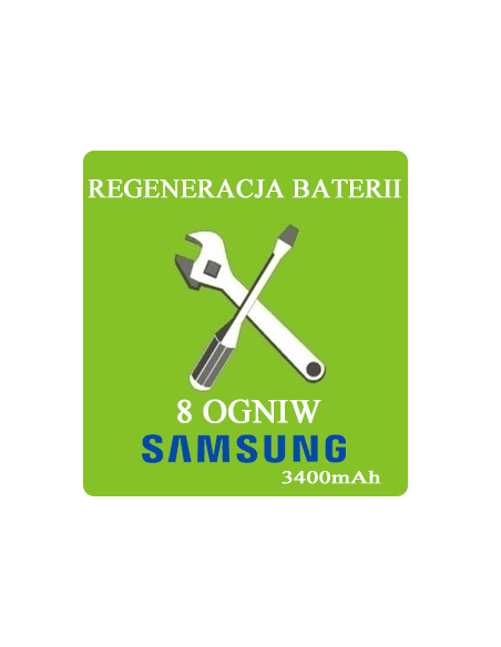 Regeneracja baterii do laptopa - 8 ogniw SAMSUNG 3400mAh