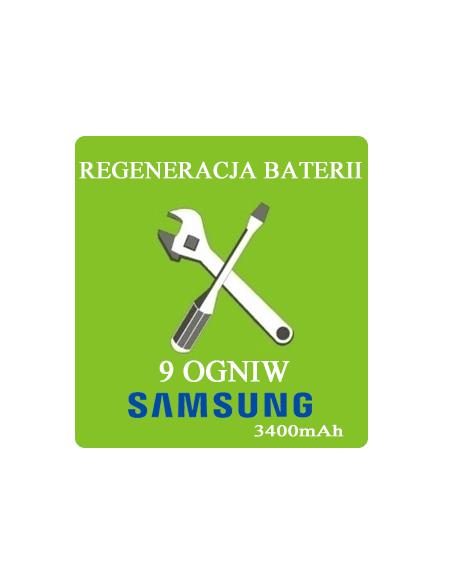 Regeneracja baterii do laptopa - 9 ogniw SAMSUNG 3400mAh