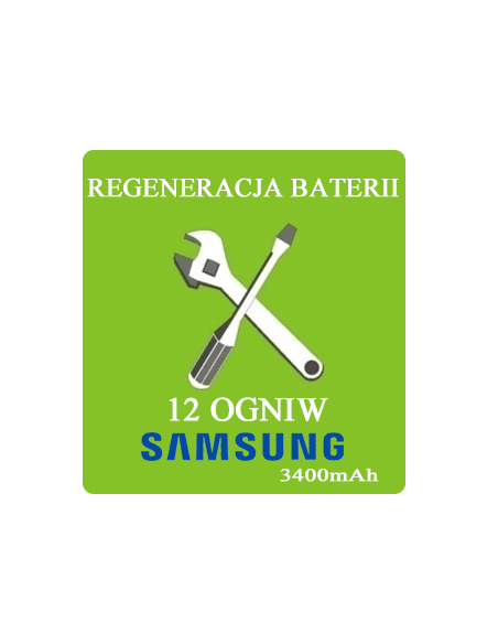 Regeneracja baterii do laptopa - 12 ogniw SAMSUNG 3400mAh