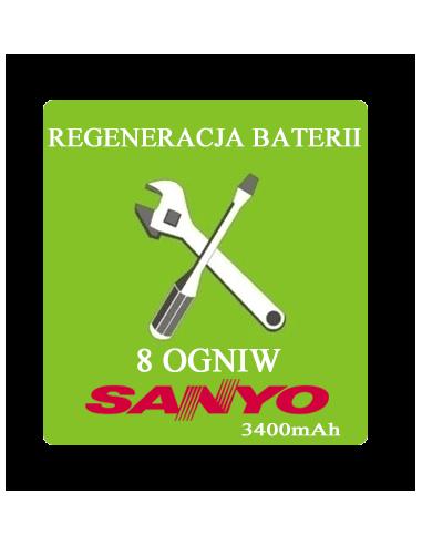 Regeneracja baterii do laptopa - 8 ogniw SANYO 3400mAh